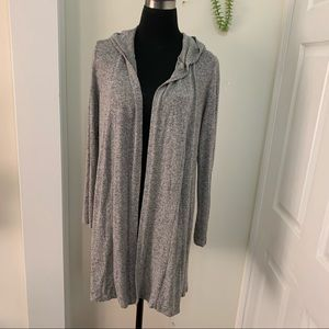 Forever21 Knit Duster Outerwear Hoodie Cardigan